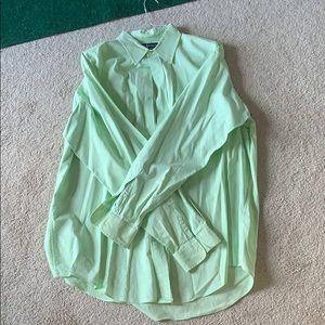 Green Polo Button Down XL